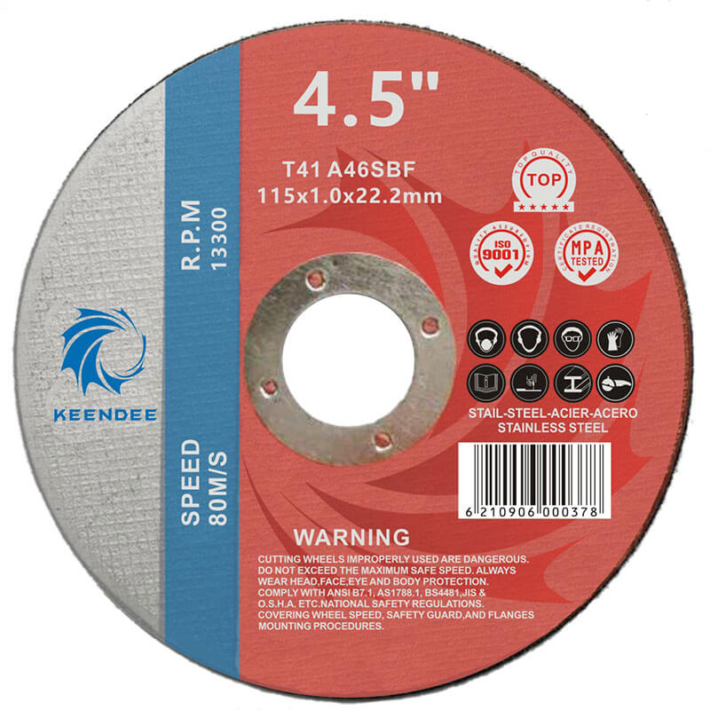 4.5 Inch Stainless Steel Cutting Disc, Titanium Alloy Cut Off Wheel 4.5 Inches (115X1.2X22)
