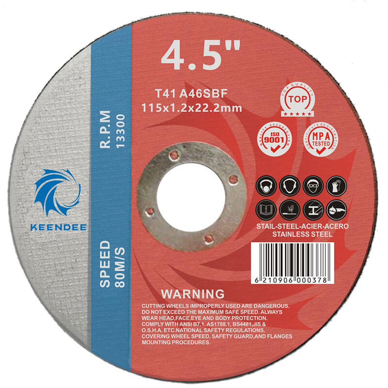 4.5 Inch Rebar Cutting Discs, Steel Pipe Cutting Discs, Angle Ginder Use, 4.5 Inches (115X1.6X22)