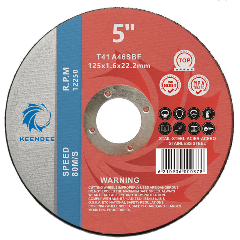 5 Inch Abrasive Cutting Discs, Different Thickness Can Be Customized According To Customer Requirments, 5 Inches (125X2.5X22)