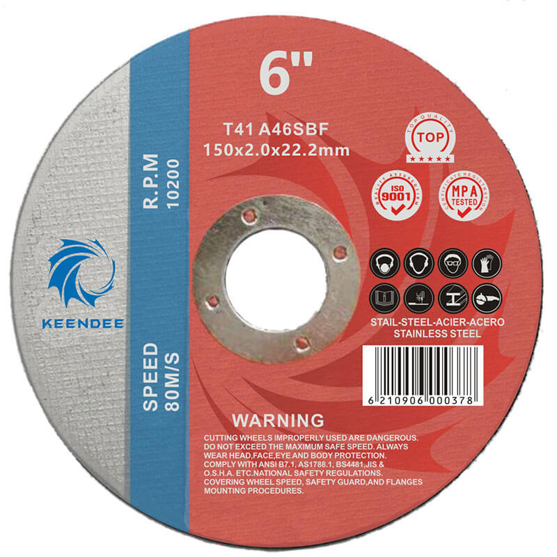 6 Inch Abrasive Cut Of Discs, Shape Can Be Flat And Cup-Shped, 6 Inches (150X2.0X22)