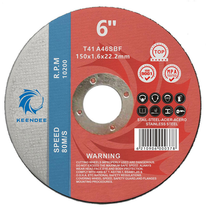 6 Inch Cut Off Wheels,  Rebar (Fixture) Cutting, Vertical Cut, 6 Inches (150X1.6X22)