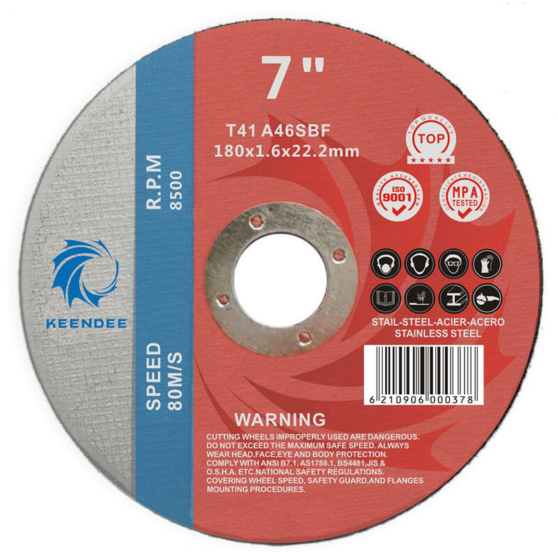 7 Inch Abrasive Cut Off Wheels, Metal Cutting, Inox Cutting, 7 Inches (180X1.6X22)