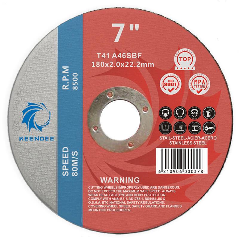 7 Inch Abrasive Cutting Wheels, Shape T41/T42 7 Inches (180X2.0X22)