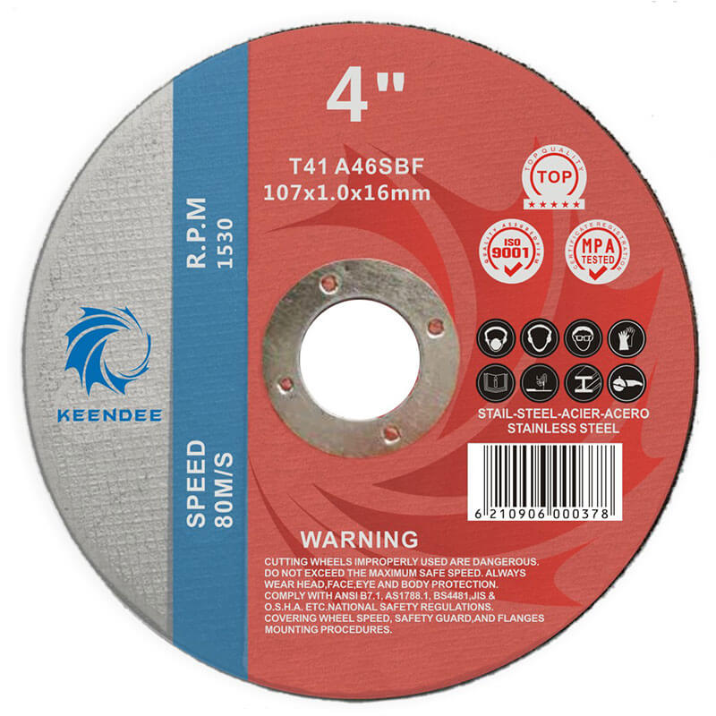 Ultra-Thin Cutting Disc, 4 Inch, Metal Cutting Discs, Stainless Steel Cutting Disc, 4 Inches (107X1.0X16)